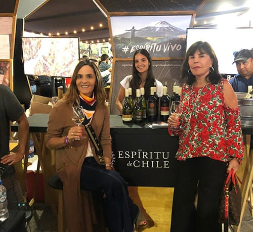 Aresti at Chile wine fest