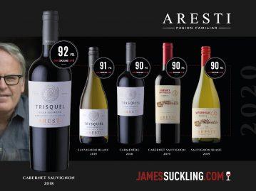 Excelentes puntajes en Jamessuckling.com